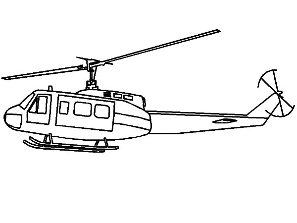 Helicopter, : Drawing Military Helicopter Coloring Pages