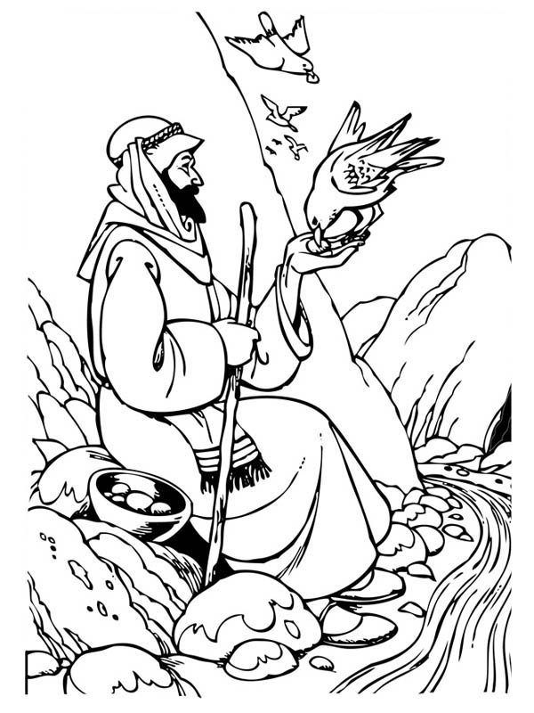 Pin elijah ravens colouring pages on pinterest for Elijah baal coloring page