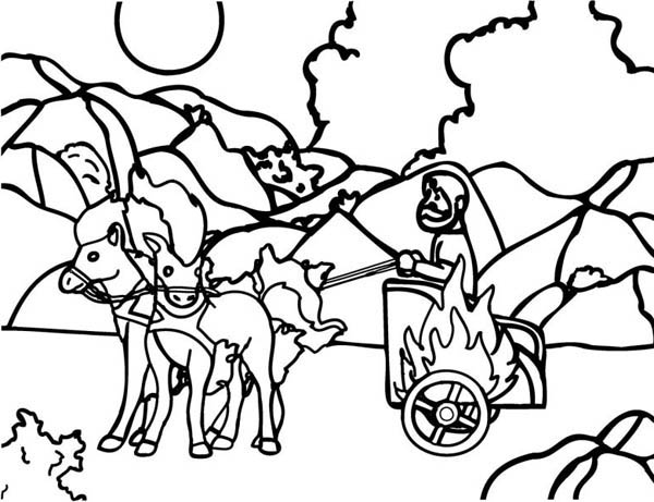 Elijah, : Elijah Taken Up to Heaven Coloring Pages