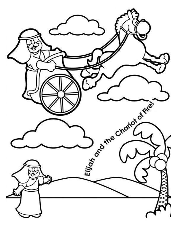 elijah and the chariot of fire coloring pages