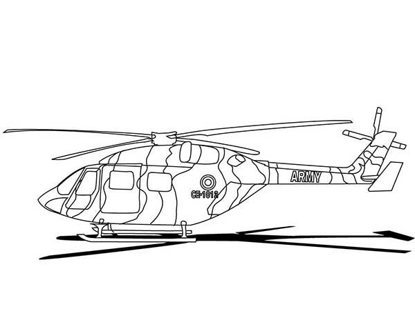 Helicopter, : Eurocopter Helicopter Coloring Pages