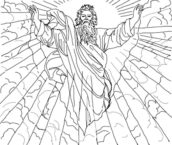 First Days of Creation Coloring Pages | Coloring Sun