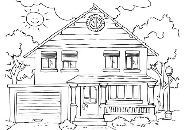 Home On The Prairie, : Free-House-Coloring-Pages