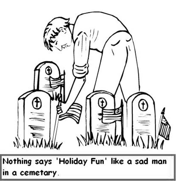 Remembrance Day, : Gravestone Remembrance Day Coloring Pages