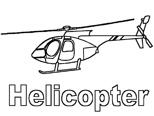 Helicopter, : H is for Helicopter Coloring Pages