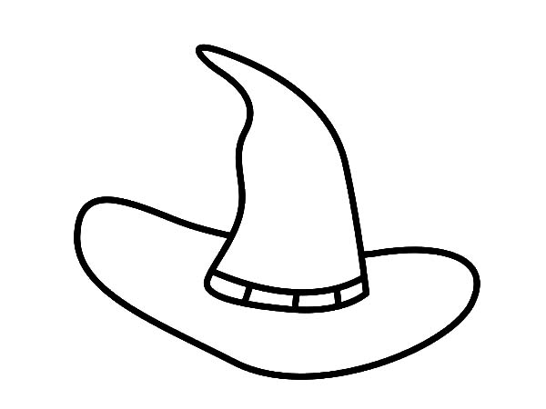 Hat, : Halloween Witch Hat Coloring Pages