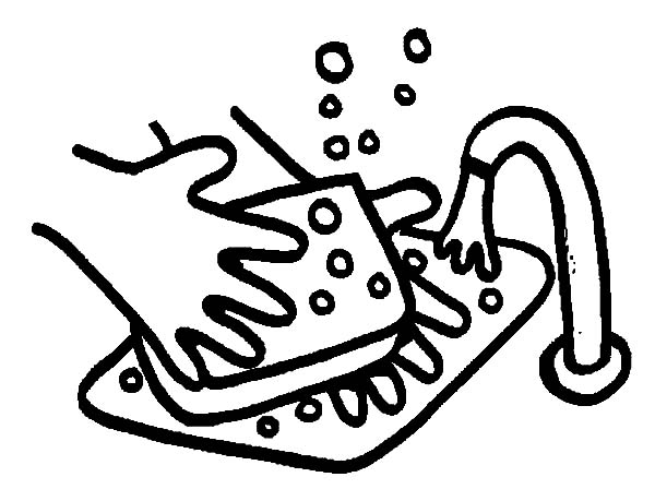 Hand Washing, : Hand Washing Sink Soap Coloring Pages