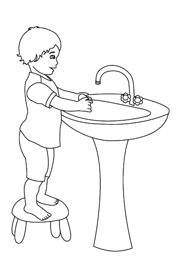 Hand Washing, : Hand Washing is Important Thing Coloring Pages