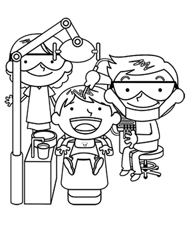 boy brushing teeth coloring pages - photo#27