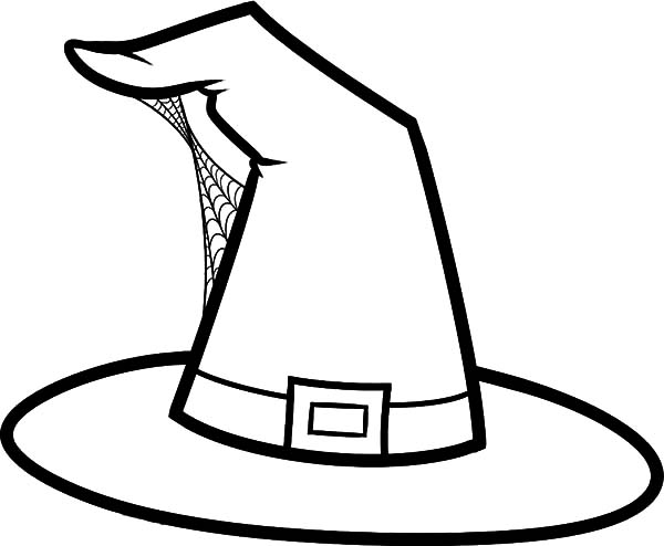 Hat, : Hat Build with Spider Web Coloring Pages