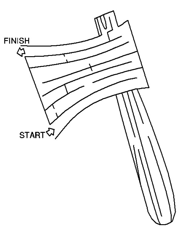 hatchet, : Hatchet Maze Coloring Pages