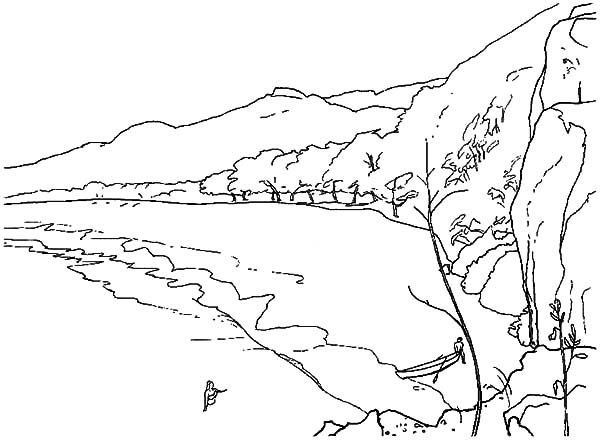 Hawaii, : Hawaii Natural Beach Coloring Pages