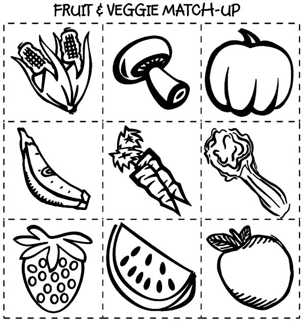 Healthy Eating Coloring Pages
