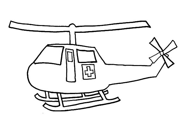 Helicopter, : Helicopter Rescue Coloring Pages