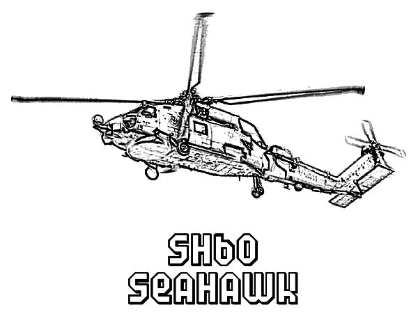 Helicopter, : Helicopter Seahawk SH 60 Coloring Pages