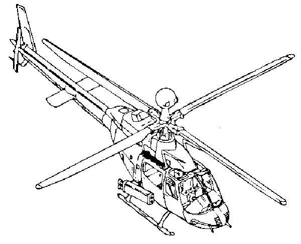 Helicopter Strike Force Coloring Pages