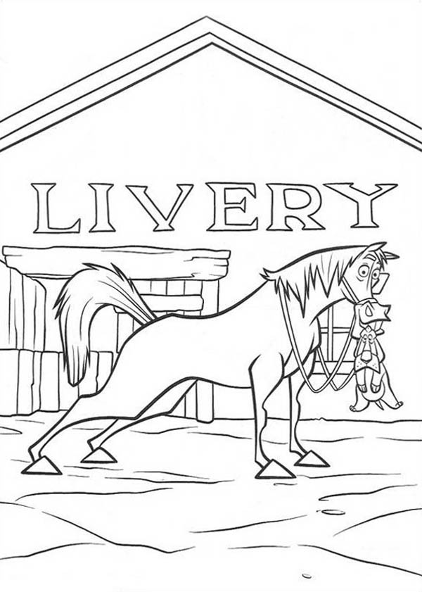 Home On The Prairie, : Home on the Prairie Horse Save a Dog Coloring Pages