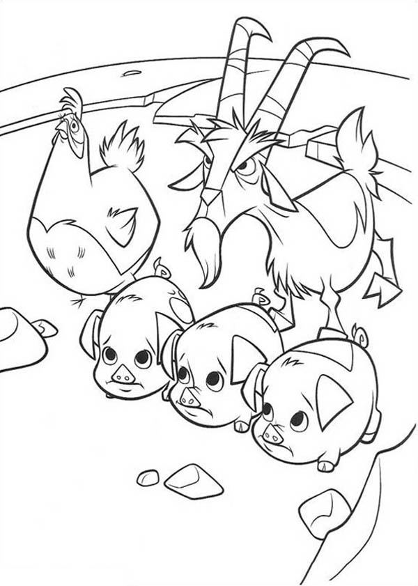 Home On The Prairie, : Home on the Prairie a Goat Protect Little Animal Coloring Pages