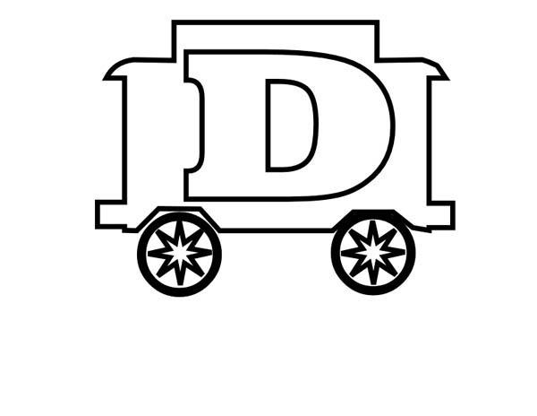 Letter D, : Kindergarden Kids Learn Letter D Coloring Page