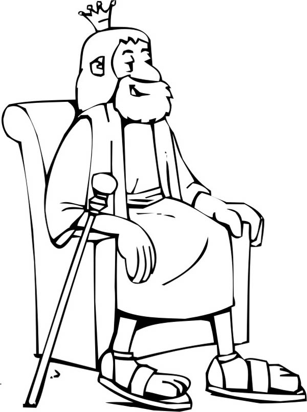 King Nebuchadnezzar, : King of the Neo Babylonian Empire Nebuchadnezzar Coloring Page