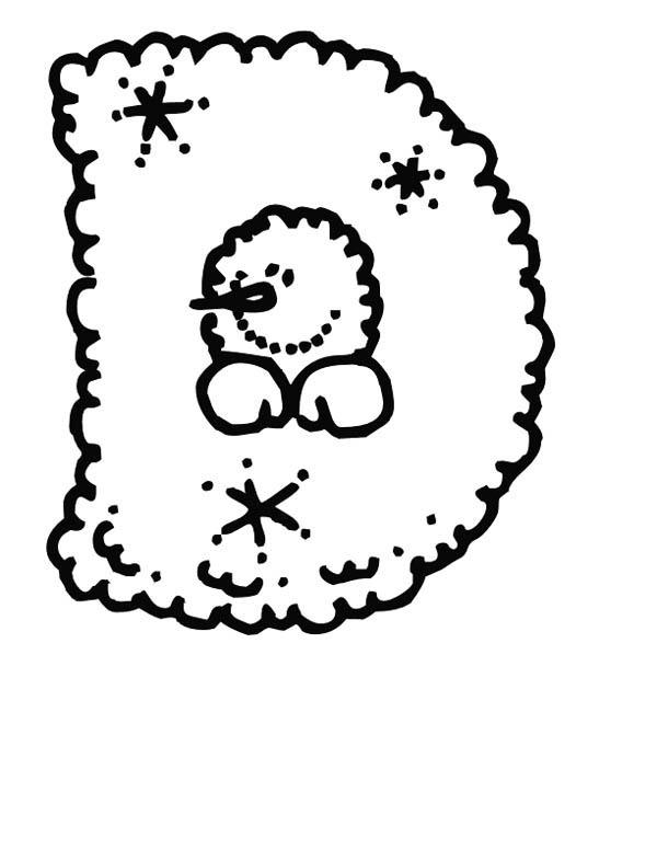 Letter D, : Letter D for Dog Coloring Page