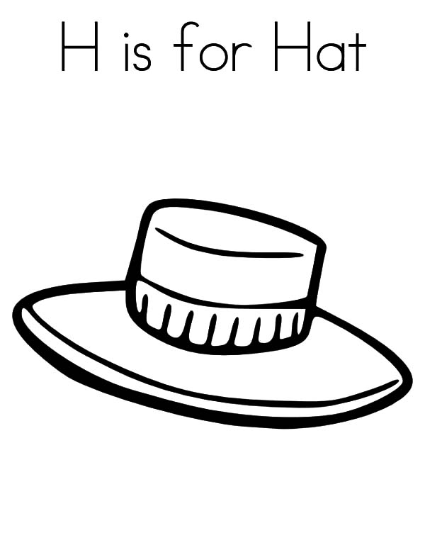Hat, : Letter His for Hat Coloring Pages