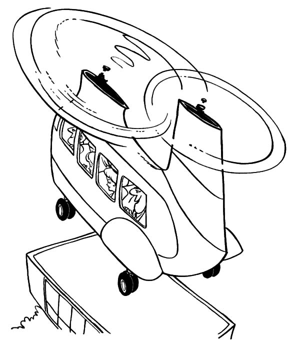 Helicopter, : Military Helicopter Two Propellers Coloring Pages