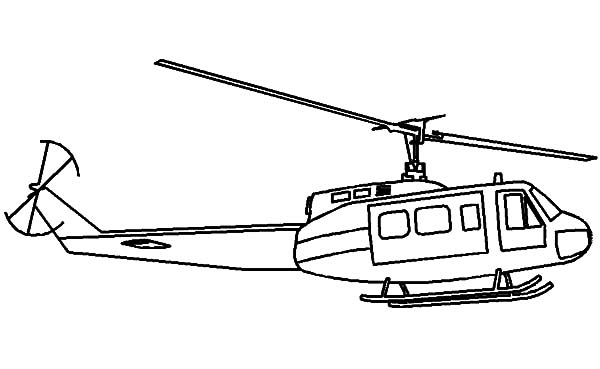 Helicopter, : Military Transportation Helicopter Coloring Pages