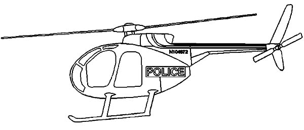 Police Helicopter Coloring Pages Sun