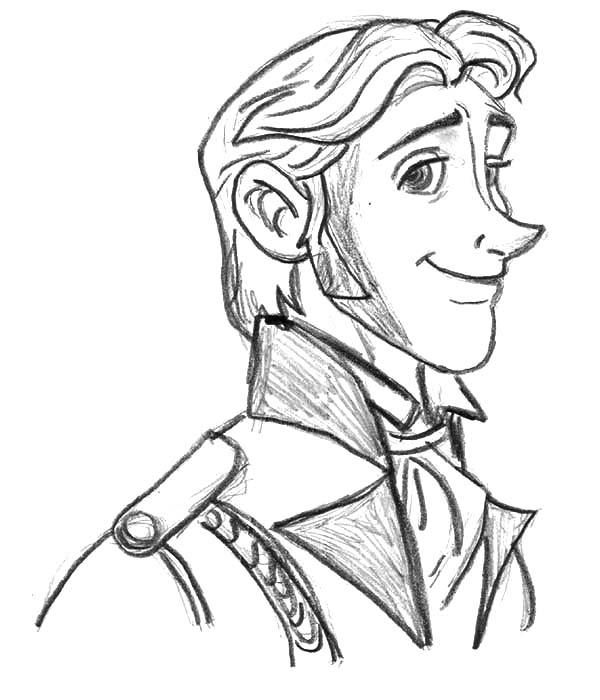 Hans, : Prince Hans Sketch Coloring Pages