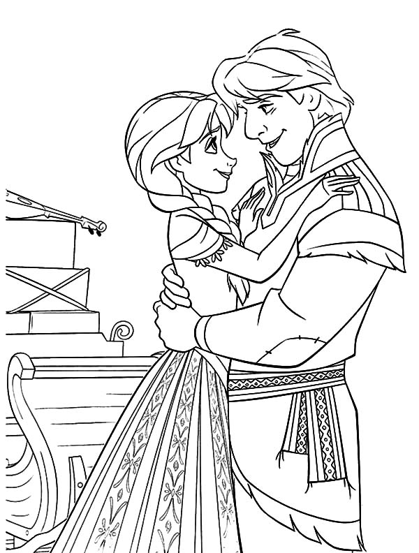 Hans, : Prince Hans and Princess Anna Coloring Pages