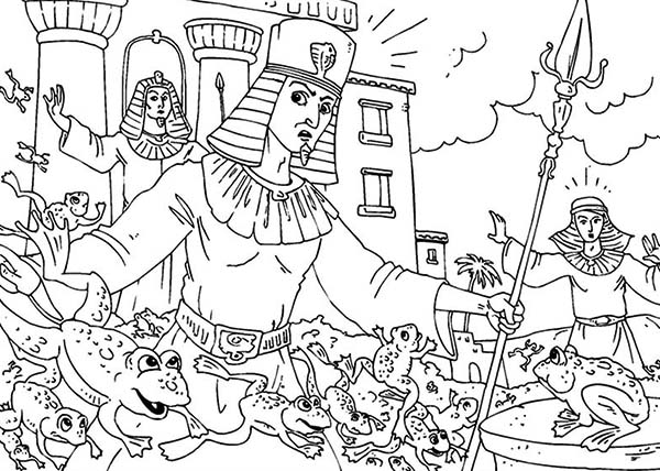 Prince Of Egypt, : Prince of Egypt the Second Plague of Egypt is Frog Coloring Pages