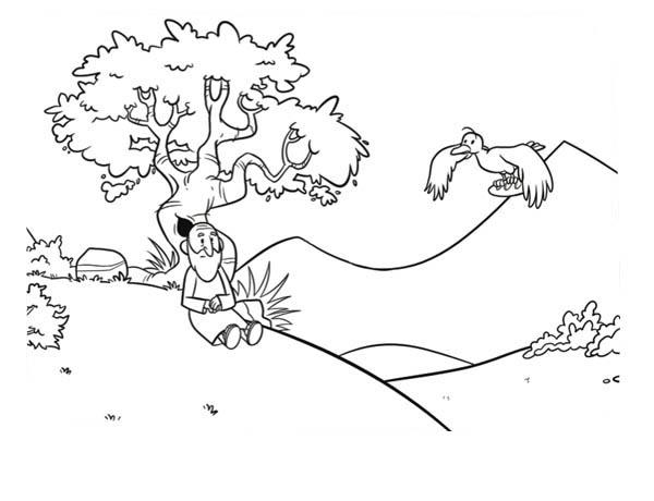 raven bring elijah food coloring pages - Elijah Prophet Coloring Pages