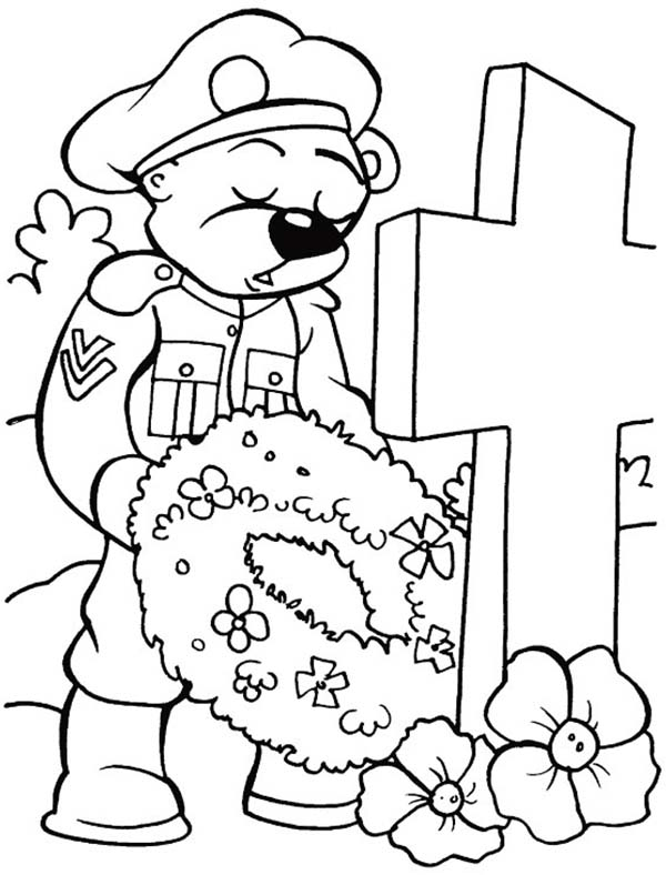 Remembrance Day, : Remembrance Day Animal Soldier Coloring Pages