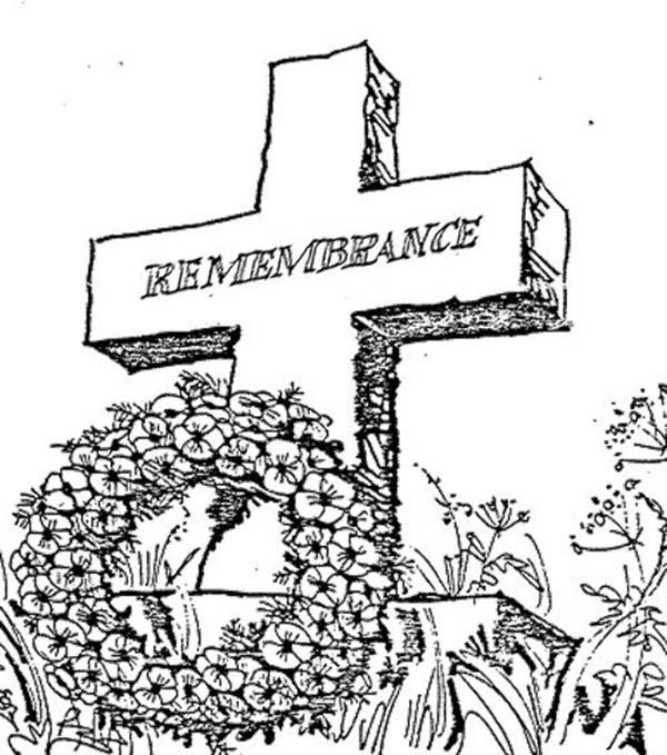 Remembrance Day, : Remembrance Day Coloring Pages
