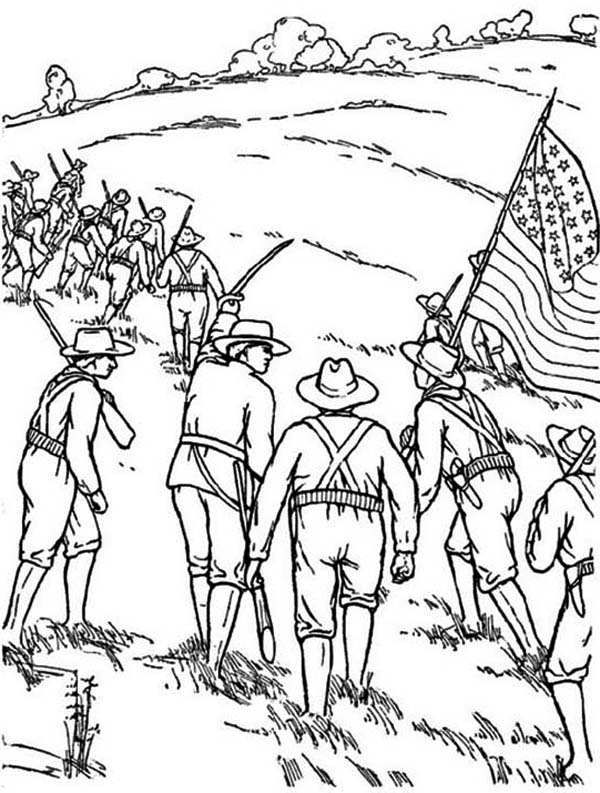 Remembrance Day, : Remembrance Day Fighter Troops Coloring Pages