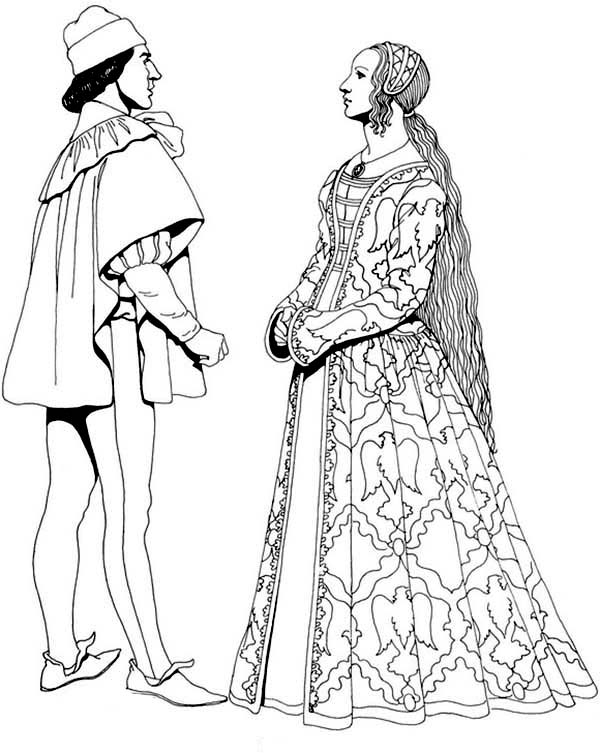Renaissance, : Renaissance Conversation Coloring Pages
