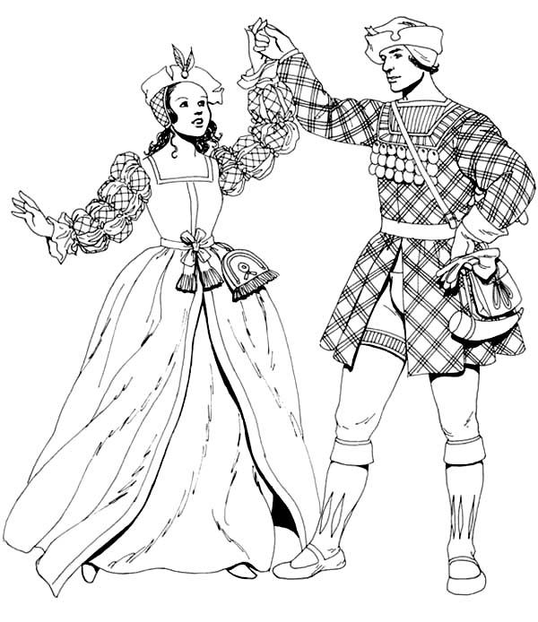 Renaissance Dance Coloring Pages: Renaissance Dance Coloring Pages ...