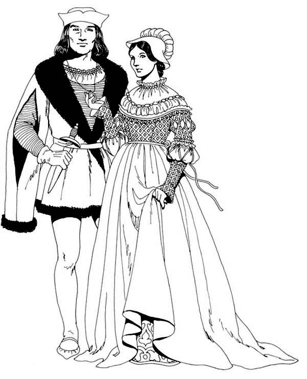 Renaissance, : Renaissance European History Coloring Pages