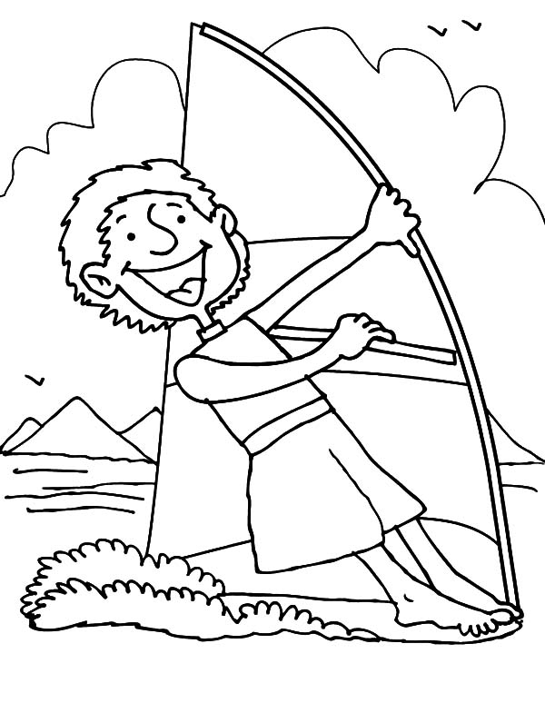 Hawaii, : Sailing on Hawaii Sea Coloring Pages