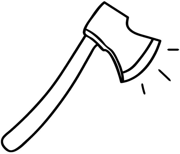 hatchet, : Shiny and Sharp Hatchet Coloring Pages