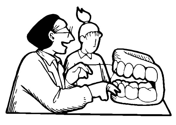 Health, : Show to Keep Mouth Health Coloring Pages