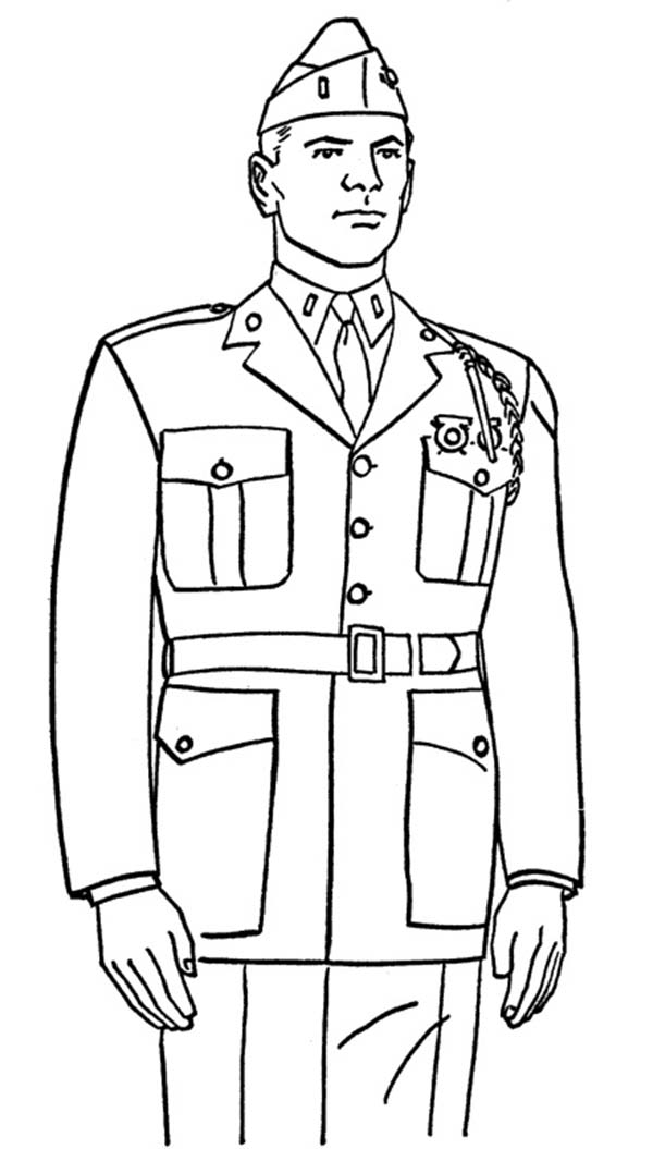 Remembrance Day, : Soldier on Remembrance Day Coloring Pages