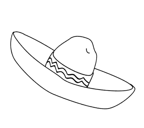 Hat, : Sombrero Hat Coloring Pages