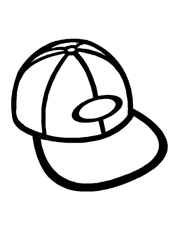 Hat, : Sport Hat Coloring Pages