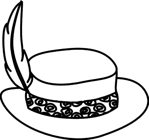 Hat, : Stylish Hat Coloring Pages