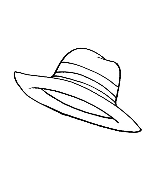 Sunshine Cover Hat Coloring Pages