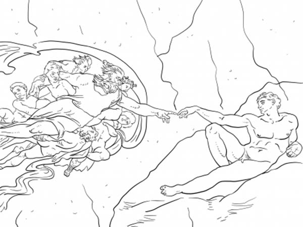 Days Creation, : The Creation of Adam in Days of Creation Coloring Pages
