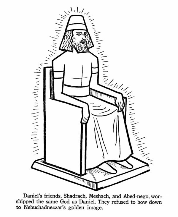 King Nebuchadnezzar, : The Greatest King of Ancient Babylon Nebuchadnezzar Coloring Page