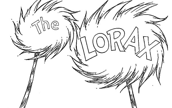 The Lorax, : The Lorax Amazing Truffula Tree Coloring Pages